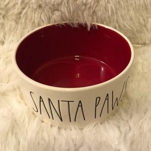 Rae Dunn Santa Paws Small Dog Dish NWT